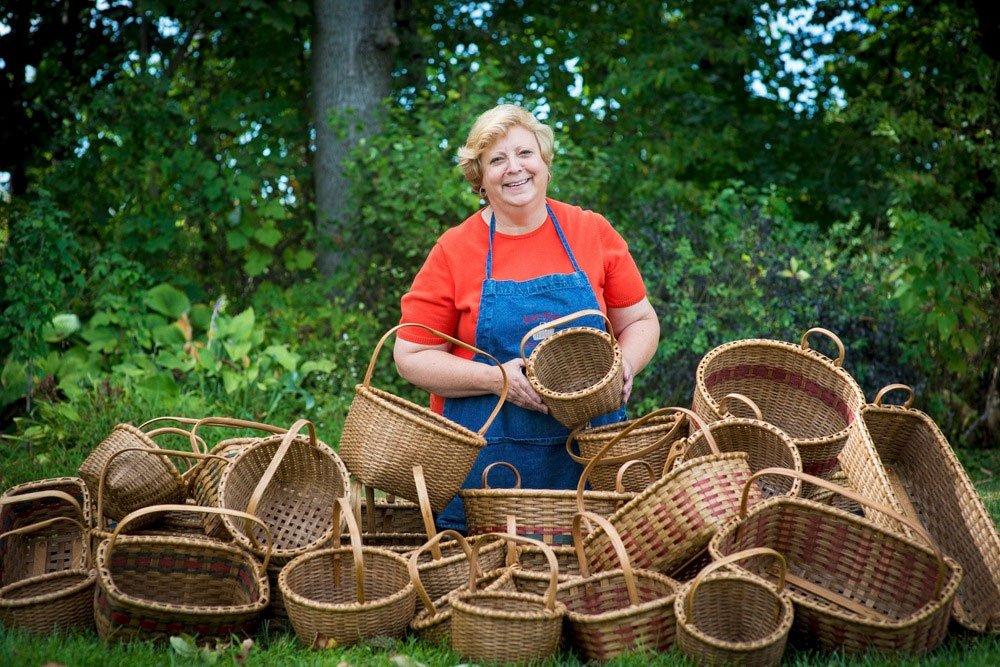 Karen Wychock - Hand woven baskets Shaker Baskets - Doylestown Pa - Traditional Artisan Show