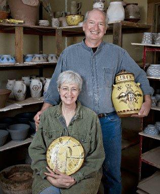 Susan Skinner & Joseph Joster - Mochaware - Doylestown PA - Traditional Artisans Show
